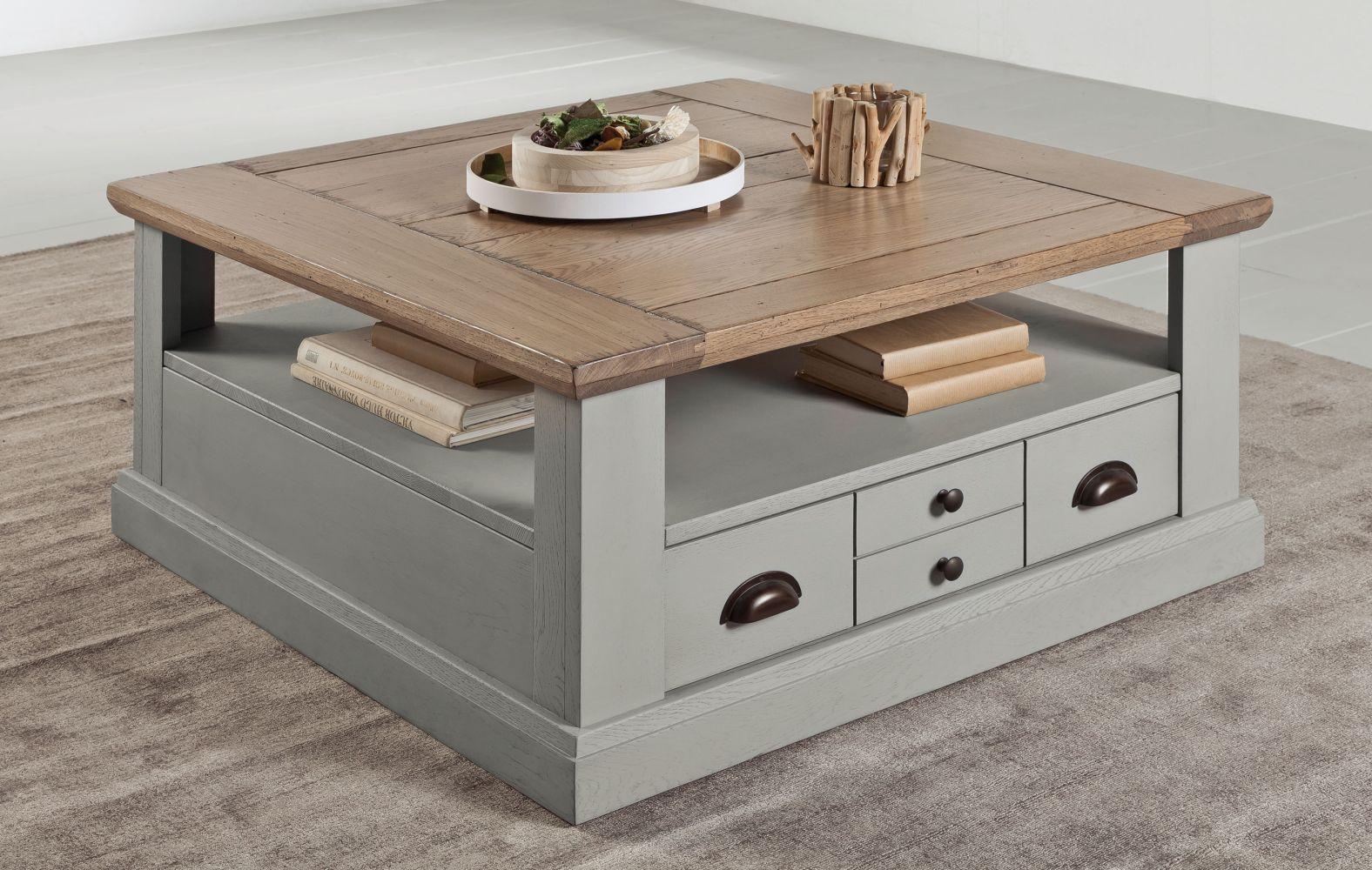 table de salon carre romance meubles fouillard. Black Bedroom Furniture Sets. Home Design Ideas