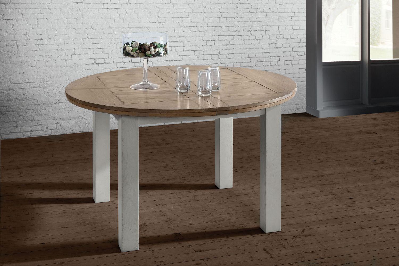 Table de sejour ronde romance meubles fouillard for Table de sejour ronde
