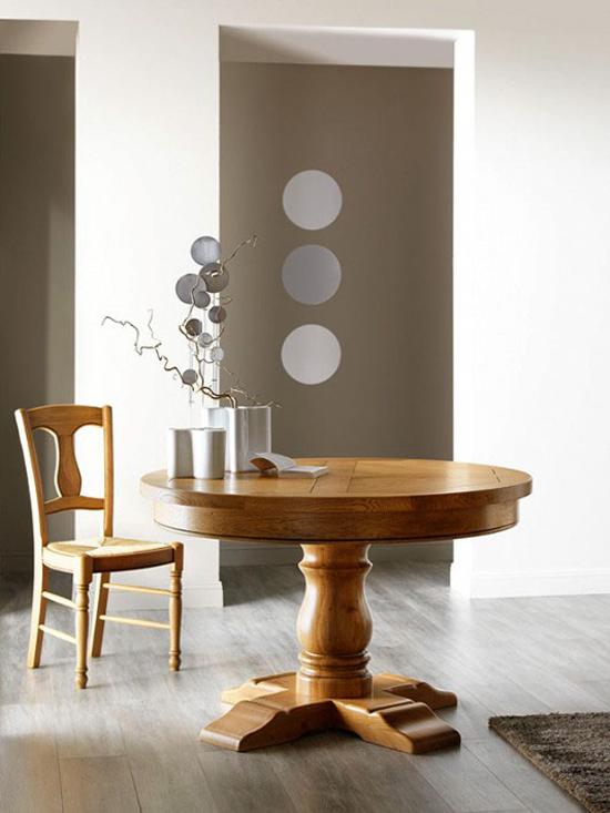 table de sejour ronde et ovale pied central dessus fil ou panneaux meubles fouillard. Black Bedroom Furniture Sets. Home Design Ideas