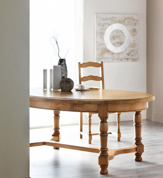 table de sejour ovale dessus fil ou panneaux meubles fouillard. Black Bedroom Furniture Sets. Home Design Ideas