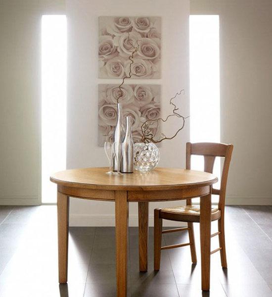 Table de sejour ronde ou ovale 4 pieds dessus fil for Table de sejour ronde