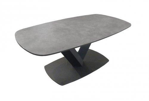 Table de salon full ceramique pietement metal meubles fouillard - Table salon dessus ceramique ...
